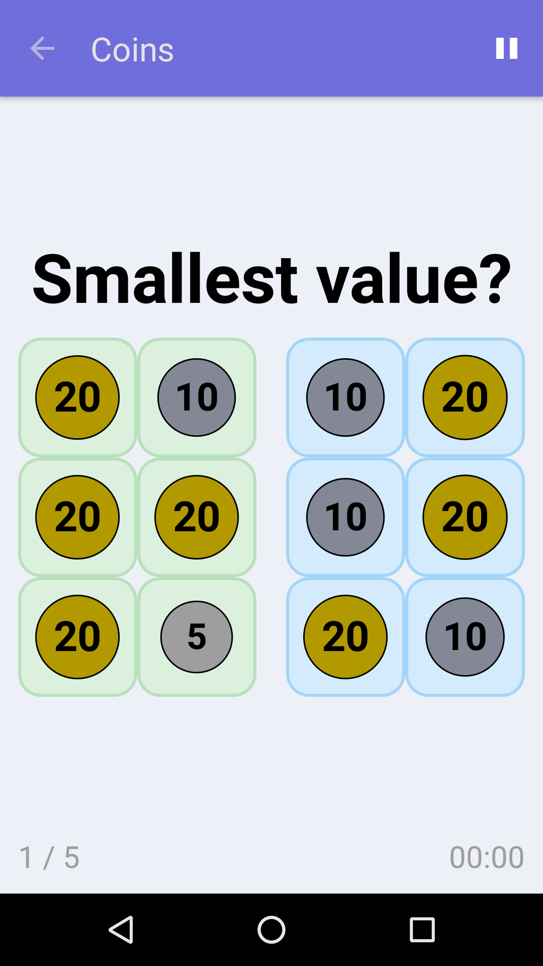 Coins : Free Math Game for iPhone & Android
