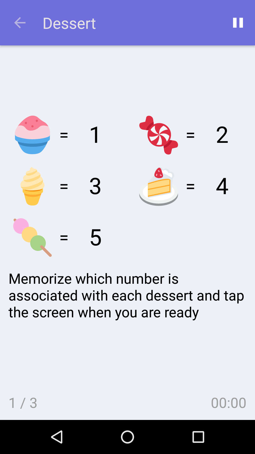 Dessert : Free Memory Game for iPhone & Android