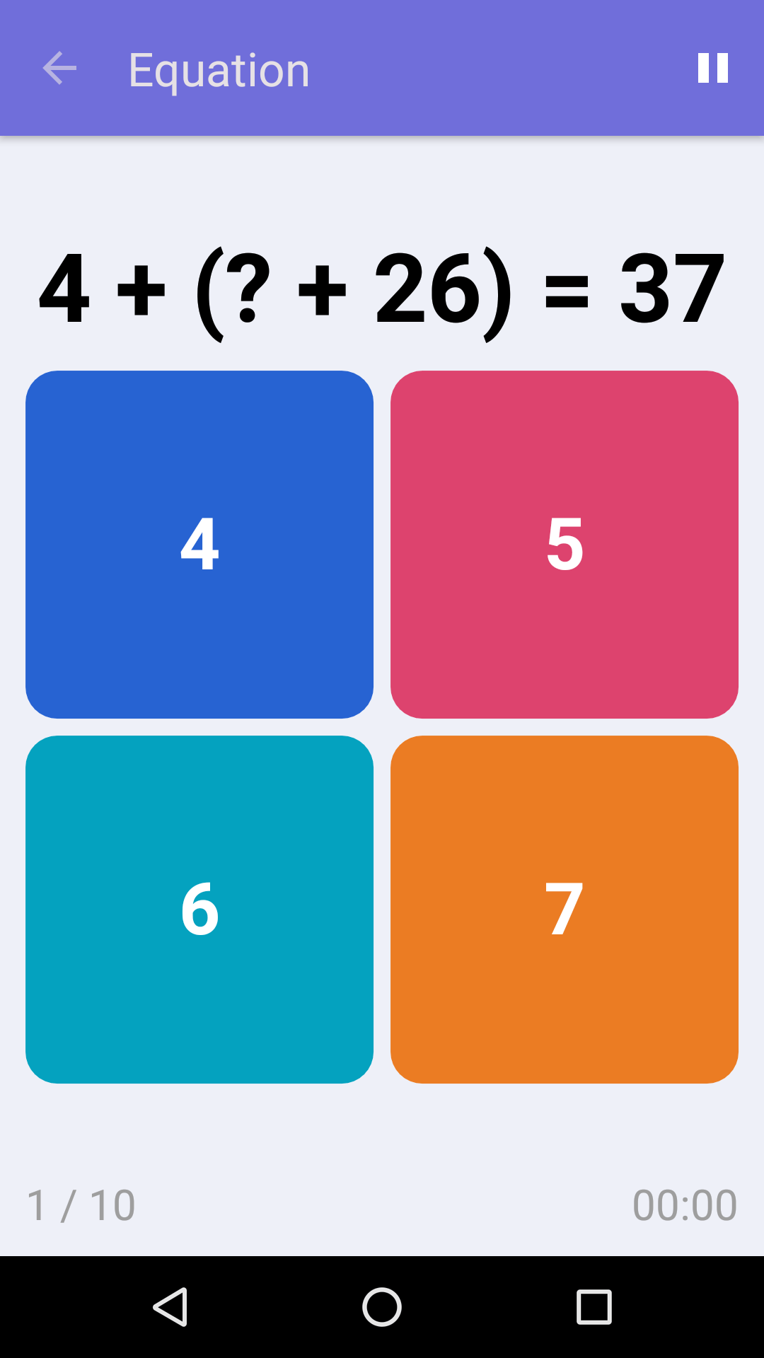Equation : Jeu de math gratuit pour iPhone & Android